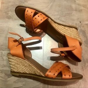 Wedges Eric Michael Real Leather Size 41 NWOT